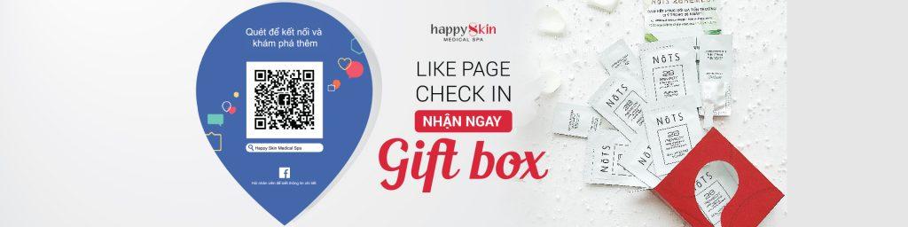 Like Page, Check in – Nhận quà liền tay