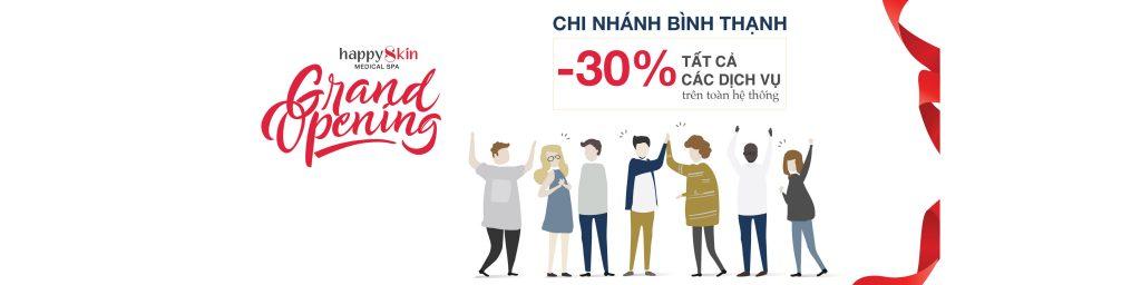 Giảm 30% tất cả các dịch vụ mừng khai trương CN Bình Thạnh